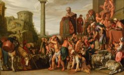 Joseph Selling Corn in Egypt | Pieter Lastman | Oil Painting