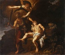 The Angel of the Lord Preventing Abraham from Sacrificing his Son Isaac | Pieter Lastman | Oil Painting
