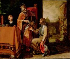 King David Handing the Letter to Uriah | Pieter Lastman | Oil Painting