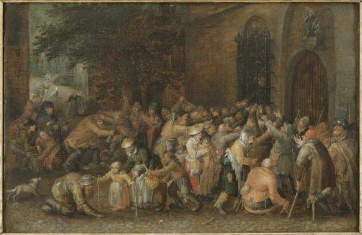 Distributing Alms   David Vinckboons   Oil Painting