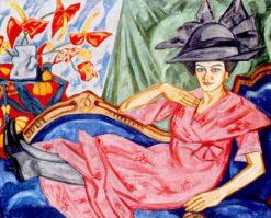 Lady in Pink | Olga Rozanova | Oil Painting