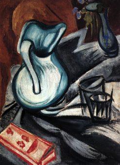 Still Life with a Green Jug | Olga Rozanova | Oil Painting