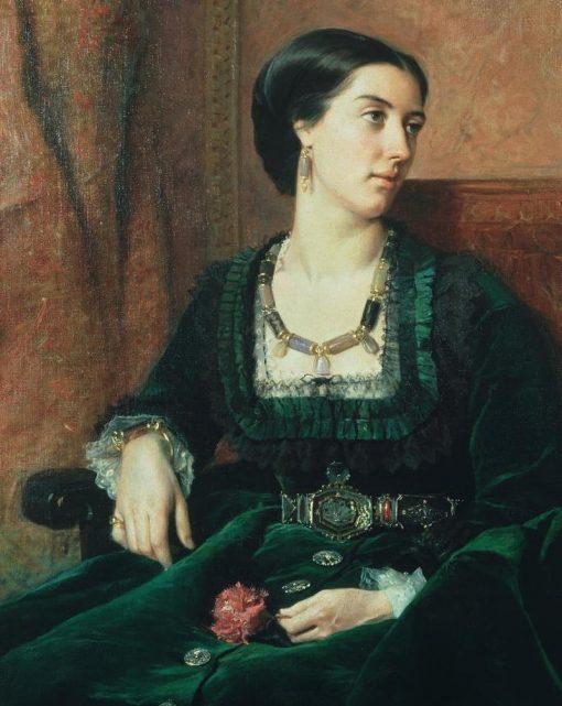 Lady Layard | Vicente Palmaroli y Gonzalez | Oil Painting
