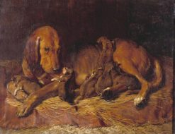 Bloodhound and Pups | Charles Landseer | Oil Painting