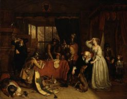 The Plundering of Basing House | Charles Landseer | Oil Painting