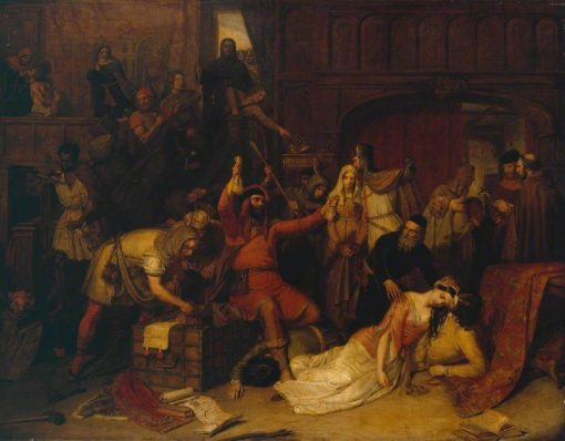 The Pillaging of a Jews House in the Reign of Richard I | Charles Landseer | Oil Painting