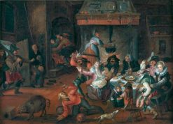 Tavern Scene | David Vinckboons | Oil Painting