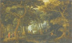 Forest Landscape with Two of Christs Miracles | David Vinckboons | Oil Painting