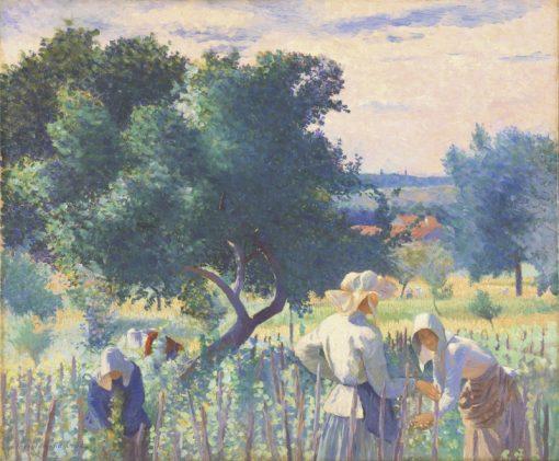 Women Tying Staves | Henri-Edmond Cross | Oil Painting