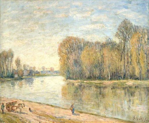 Les Bords du Loing | Alfred Sisley | Oil Painting