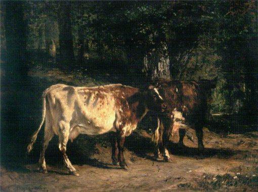 Vaches au paturage | Constant Troyon | Oil Painting
