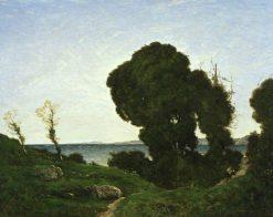 Sunshine on the Riviera | Henri Joseph Harpignies | Oil Painting