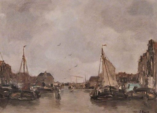Canal at Amsterdam | Jacob Maris | Oil Painting