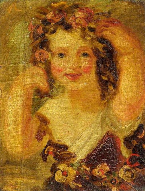 Sketch: Portrait of a Young Girl (thought to be Miss Hobbs) | John Phillip | Oil Painting