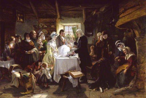 Baptism in Scotland | John Phillip | Oil Painting