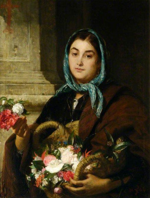 The Spanish Flower Seller   John Phillip   Oil Painting