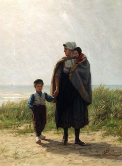 Dutch Peasants | Philip Lodewijk Jacob Frederik SadEe | Oil Painting