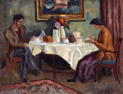 The Breakfast Table   Roger Eliot Fry   Oil Painting