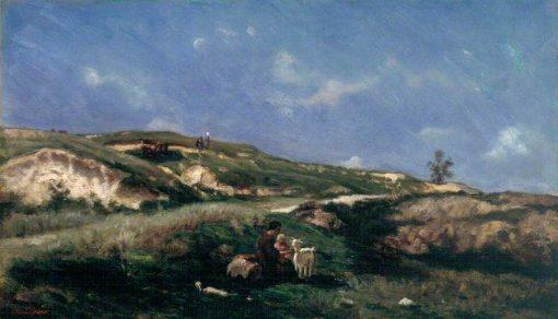 The Shepherdess | Stanislas LEpine | Oil Painting