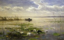 Waterlilies | Willem Roelofs | Oil Painting