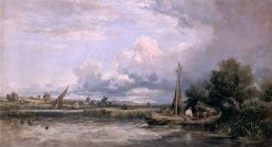 Medway River | William James Muller | Oil Painting