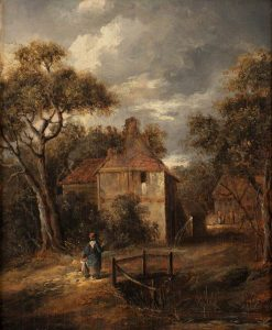 Landscape with Figures and Cottages | James Stark | Oil Painting
