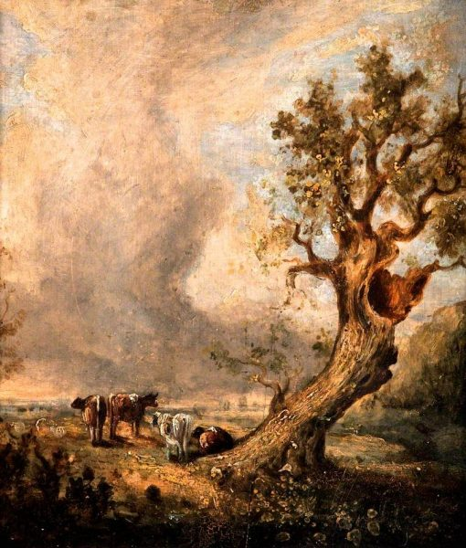 Landscape with Trees and Cattle | John Crome | Oil Painting