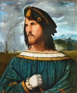 Portrait of a Nobleman(also known as Portrait of Cesare Borgia) | Altobello Melone | Oil Painting