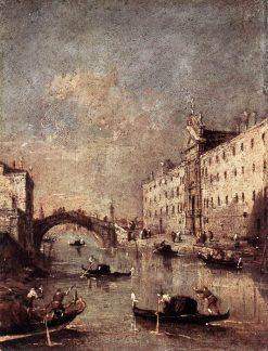 Rio dei Mendicanti | Francesco Guardi | Oil Painting