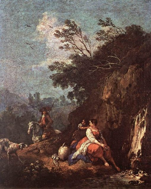 Landscape with a Rider | Francesco Zuccarelli | Oil Painting