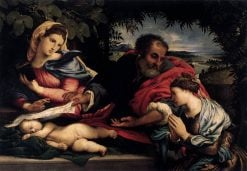 The Holy Family with Saint Catherine of Alexandria | Lorenzo Lotto | Oil Painting