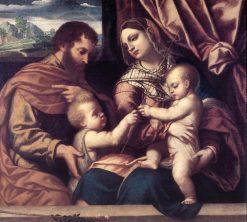 Holy Family | Moretto da Brescia | Oil Painting