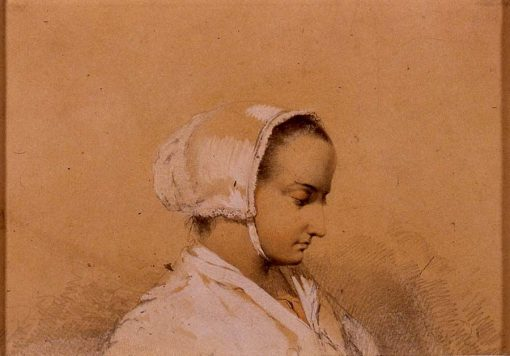Head of a Woman | Emanuel Gottlieb Leutze | Oil Painting