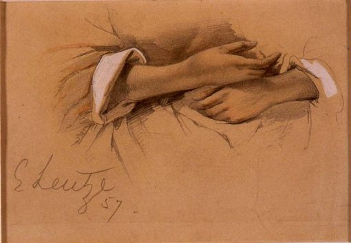 Study of Hands | Emanuel Gottlieb Leutze | Oil Painting
