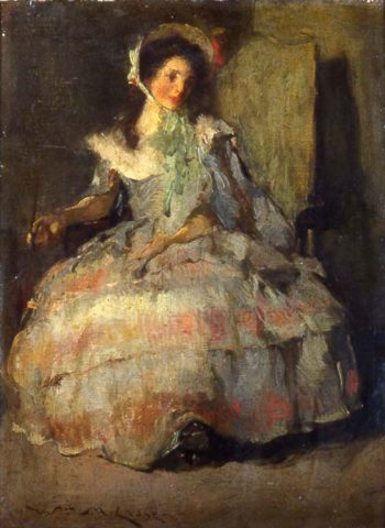 Seated Figure of a Young Woman | William Merritt Chase | Oil Painting