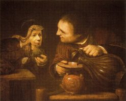 Elisha and the Widow of the Prophet Pouring the Flasks of Oil | Aert de Gelder | Oil Painting