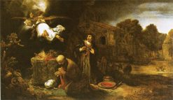 Manoah's Sacrifice | Govaert Flinck | Oil Painting