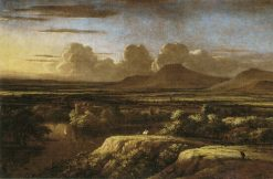 Panoramic Landscape with Mountains | Philips Koninck | Oil Painting