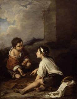 Two Boys Playing a Game | BartolomE Esteban Murillo | Oil Painting