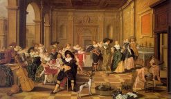 Banquet Scene in a Renaissance Hall | Dirck Hals | Oil Painting