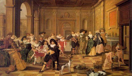 Banquet Scene in a Renaissance Hall | Dirck Hals | Oil Painting