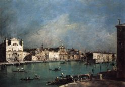 Grand Canal and Santa Lucia and the Scalzi Church | Francesco Guardi | Oil Painting