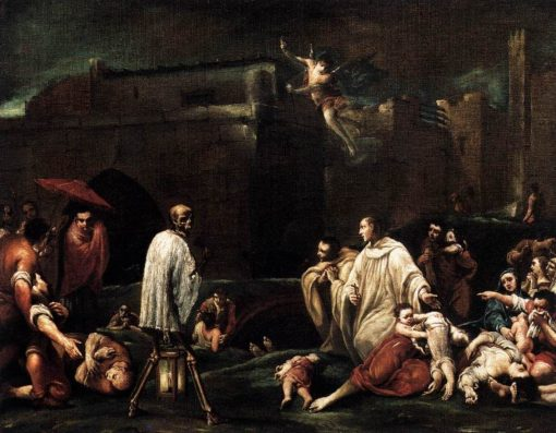 The Blessed Bernardo Tolomeo's Intercession for the End of the Plague in Siena | Giuseppe Maria Crespi | Oil Painting