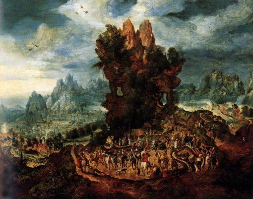 Christ Carrying the Cross   Herri met de Bles   Oil Painting