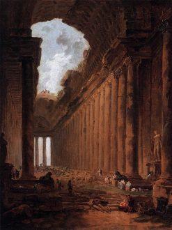 Ruin as Capriccio   Hubert Robert   Oil Painting
