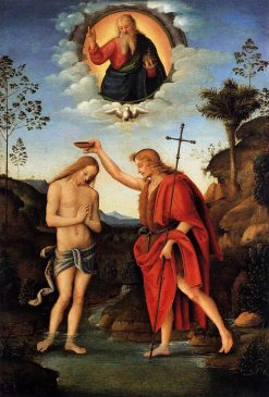 Baptism of Christ | Il Bacchiacca | Oil Painting