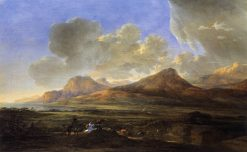 Mountainous Landscape with Traveling Herdsmen | Jan Asselijn | Oil Painting