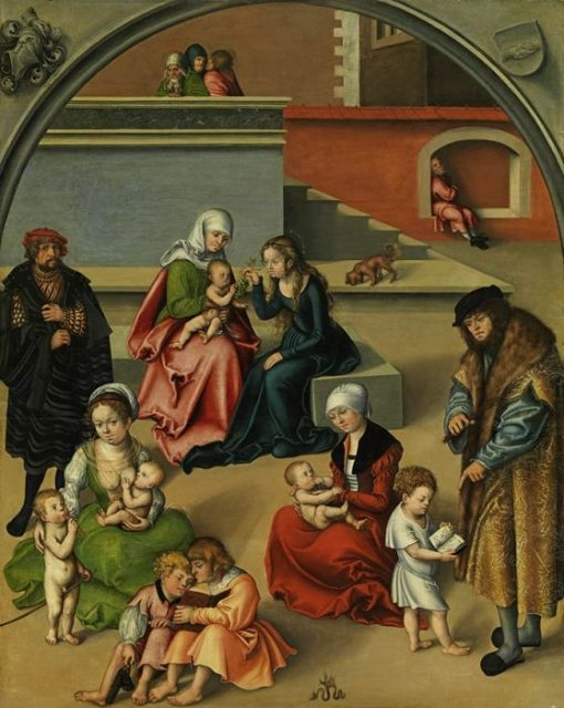Adoration of the Christ Child | Lucas Cranach the Elder | Oil Painting