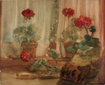 Geraniums | Julian Alden Weir | Oil Painting