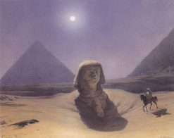 At the pyramids | Leander Russ | Oil Painting